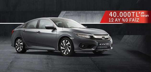 2019 Honda Ocak Fiyat Listesi Kampanyası Faizsiz Kredi Fırsatı